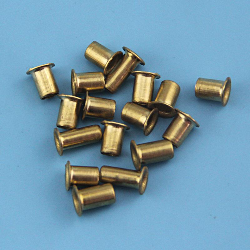 黄铜空心鸡眼扣铆钉铜件过孔帽钉M1.5M1.7M2M2.5M3M3.5M4M5M6