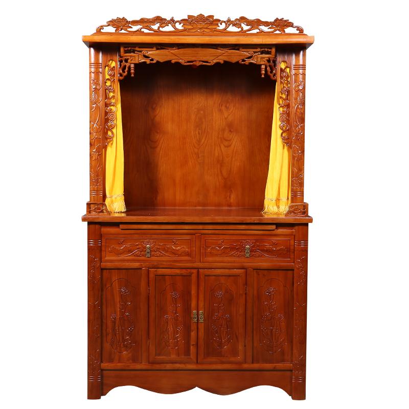 佛龛立柜佛台观音菩萨财神关公佛龛柜供奉桌实木神龛供台家用供桌