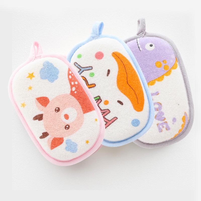 班杰威尔3只婴儿浴擦宝宝洗澡婴儿沐浴棉洗澡海绵新生儿