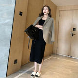 MMCO 2019 new small suit Ms. Spring and Autumn net red chic small jacket Korean loose British style