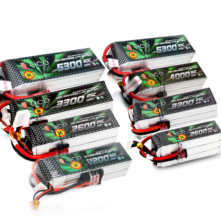 ACE格氏格式锂电池 4S 6S 2200 2600 3300 4000 5300 30C航模推荐