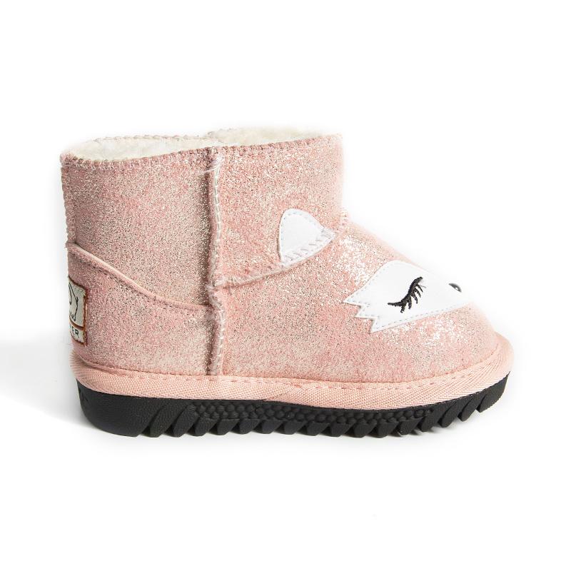 女童雪地靴儿童短靴冬季宝宝棉靴韩版加绒保暖男童卡通靴子鞋皮靴
