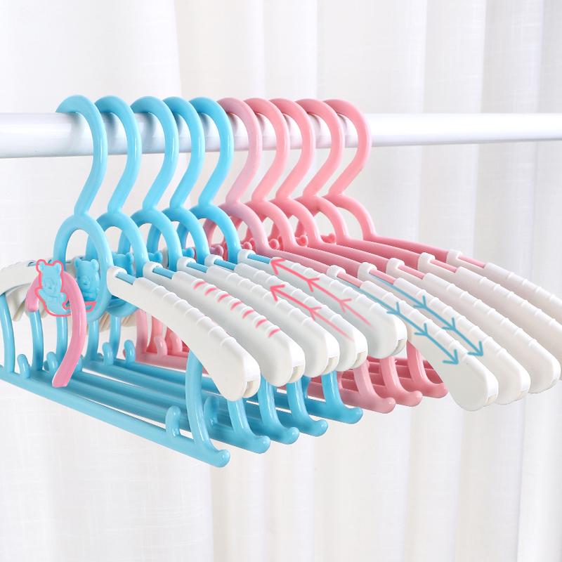 【20个】儿童多功能伸缩叠挂衣架