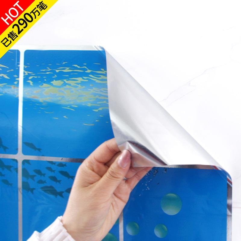 厨房防油贴纸防水防油贴纸铝箔纸自粘柜灶台用耐高温防油烟防油纸