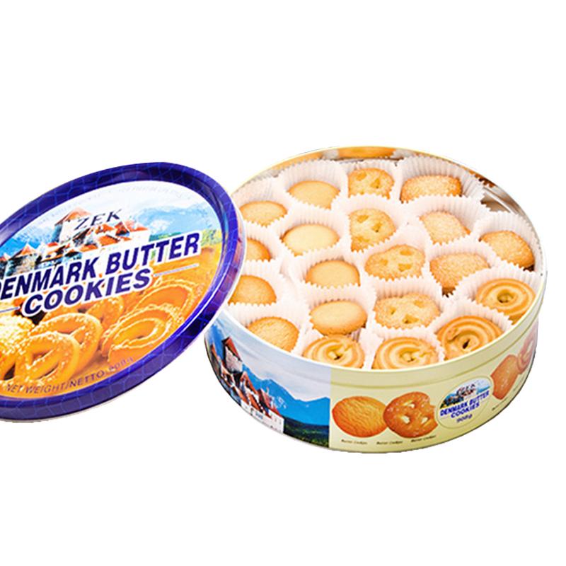 【进口】ZEK丹麦黄油曲奇饼干908g铁盒装节日礼盒中秋