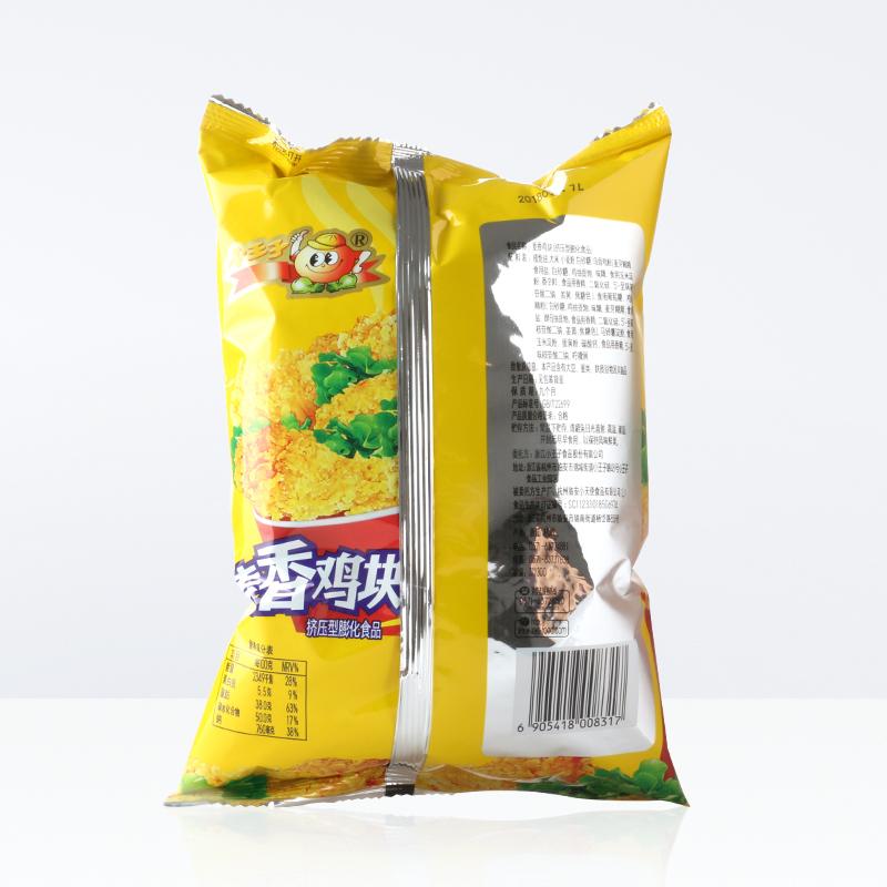 膨化儿童零食休闲食品 好吃 袋 108g 小王子麦香鸡块