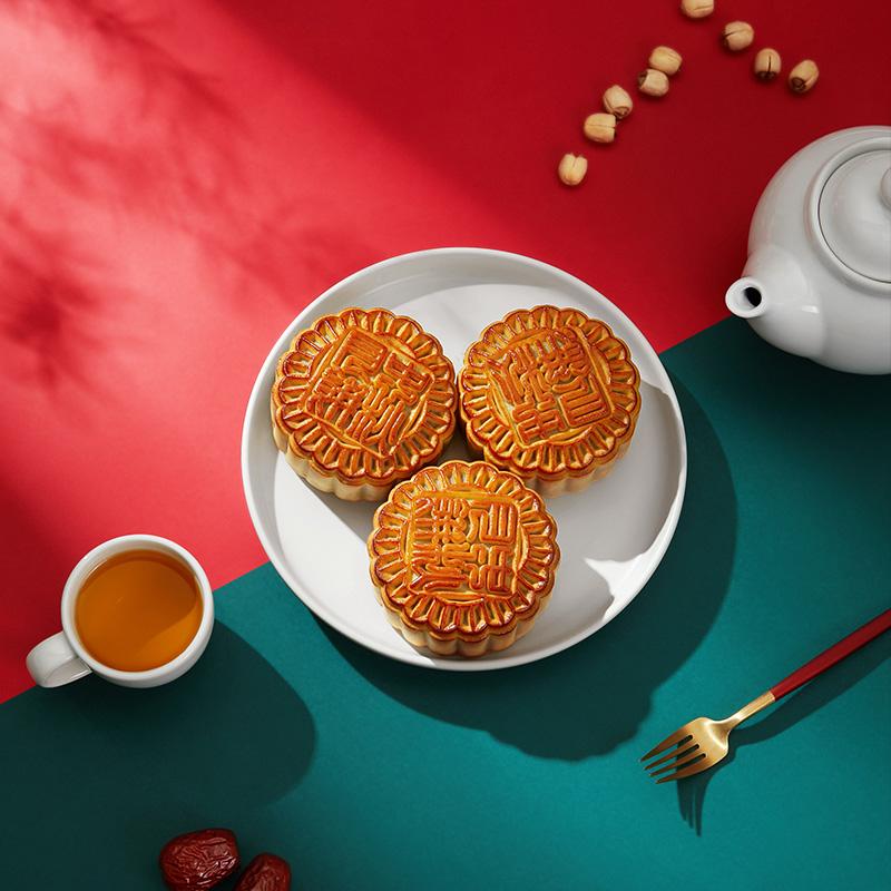 限地区、88VIP:华美 金秋颂福双黄莲蓉月饼礼盒 12饼12味810g