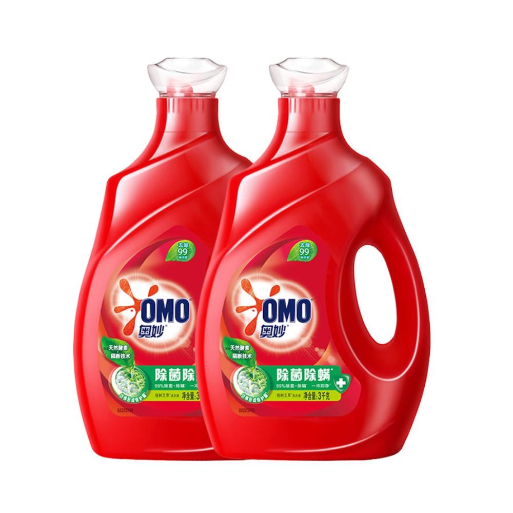 【奥妙】除菌除螨洗衣液12斤2瓶