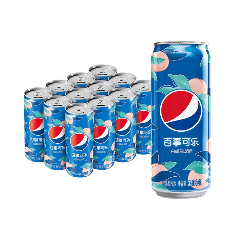 抵现红包、88VIP:百事可乐  白桃乌龙味 330mL*12罐