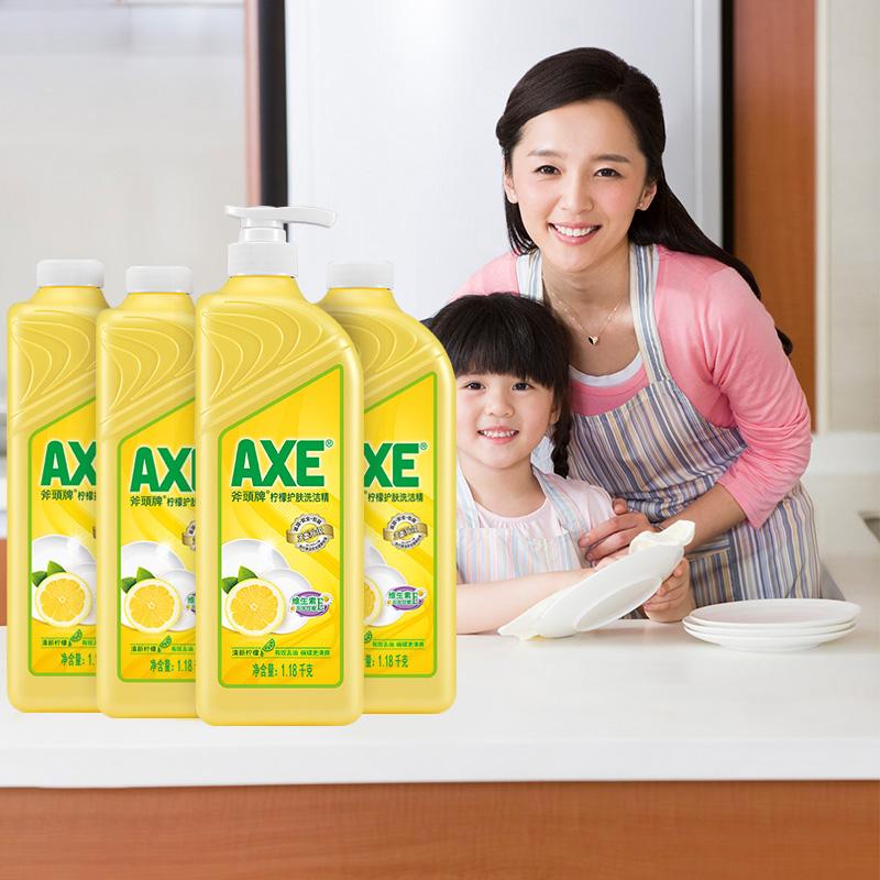 AXE 斧头牌 柠檬护肤洗洁精 1.18kg*4瓶(返20元猫超卡后)