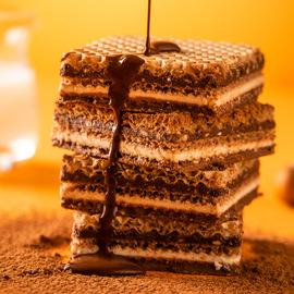 Knoppers德国进口饼干牛奶榛子巧克力5层网红零食威化饼干250g*2