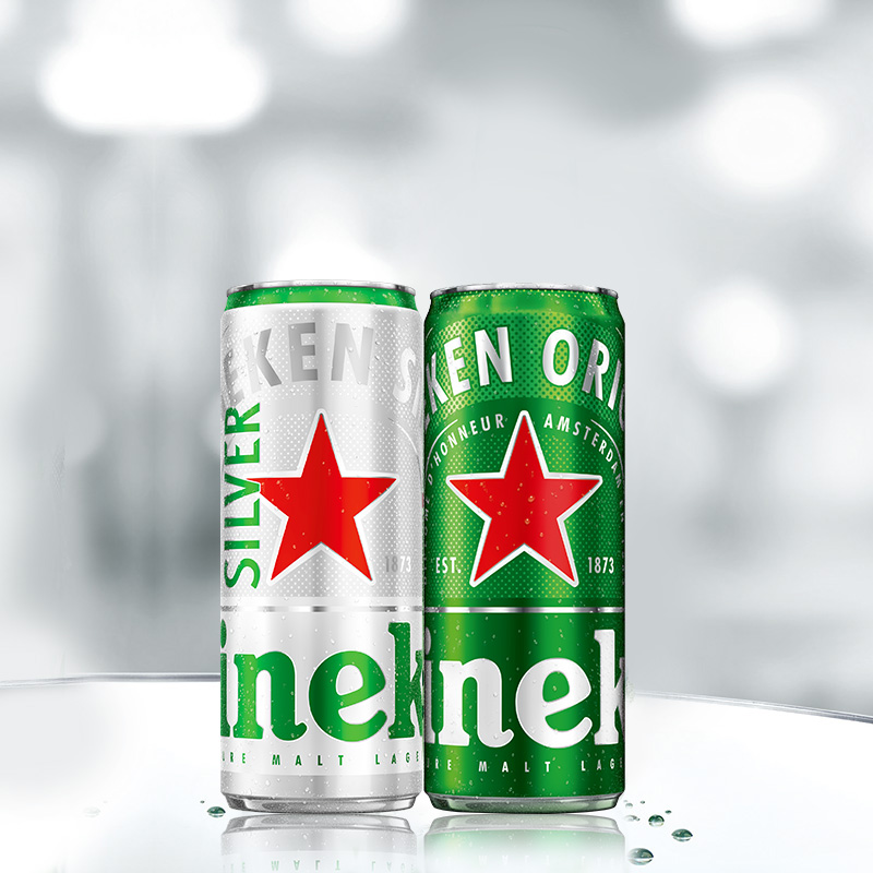 天猫超市 喜力啤酒 330mlx15听 (经典12听+星银3听)