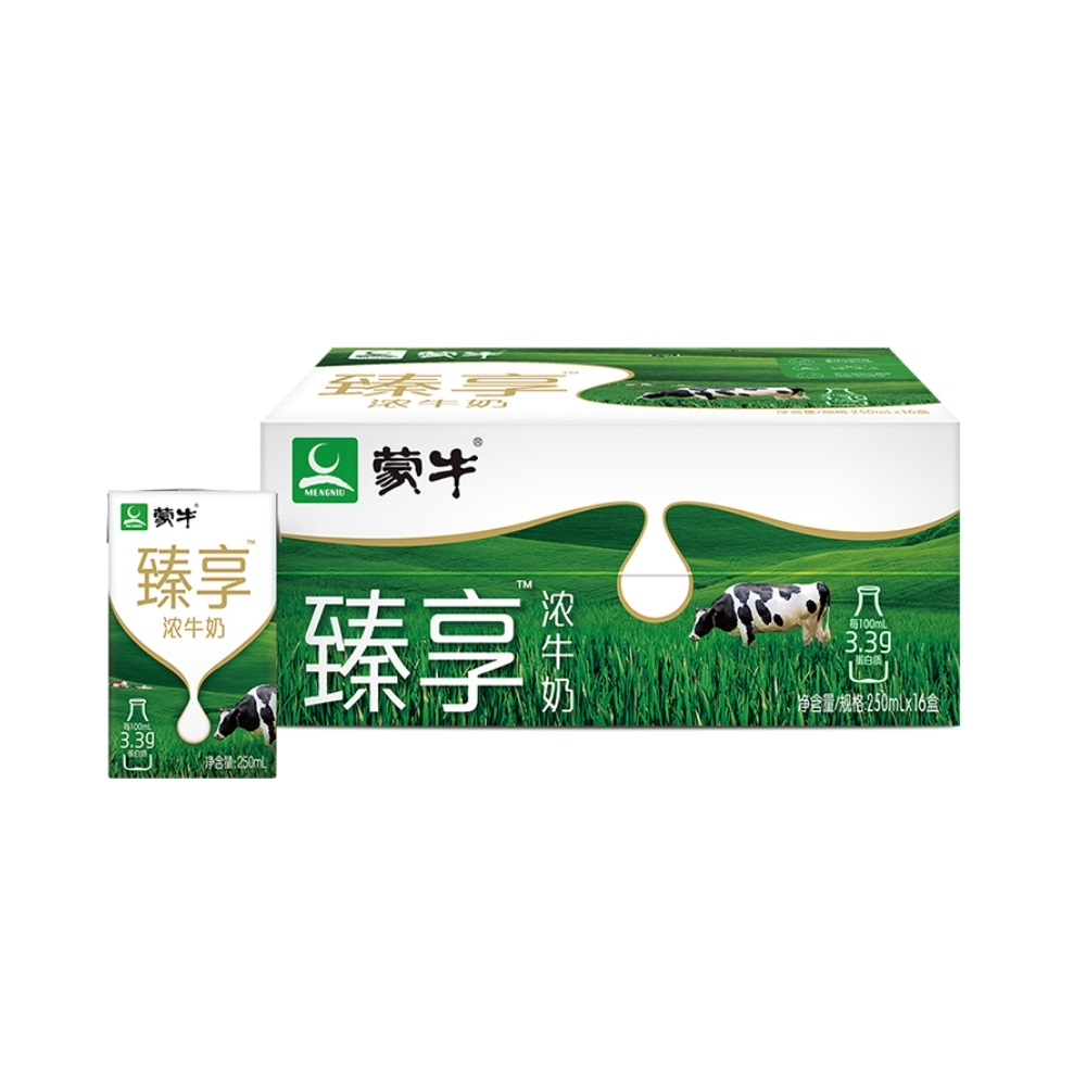 88VIP:蒙牛 臻享浓 牛奶 250mL*16盒*3件    141.44元包邮(返卡60后81.44元、合27.14元/件)