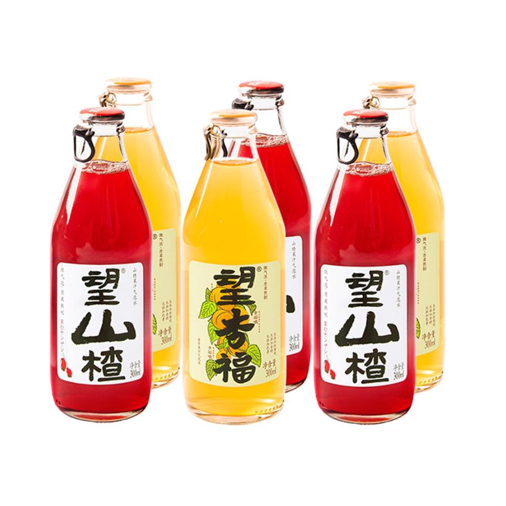 好望水望山楂望杏福果汁6瓶装