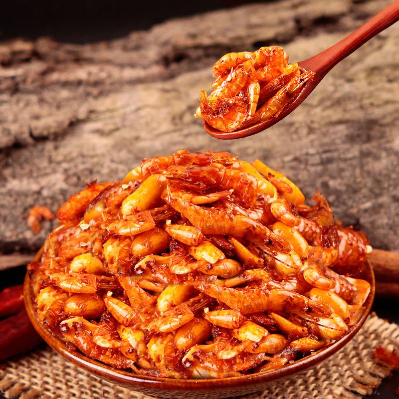 蜀道香 麻辣脆虾米100g 脆虾干 休闲即食零食 独立小包装海鲜干货