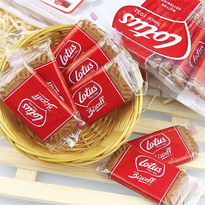 进口零食Lotus和情缤咖时焦糖饼干独立包50片312.5g茶点咖啡伴侣