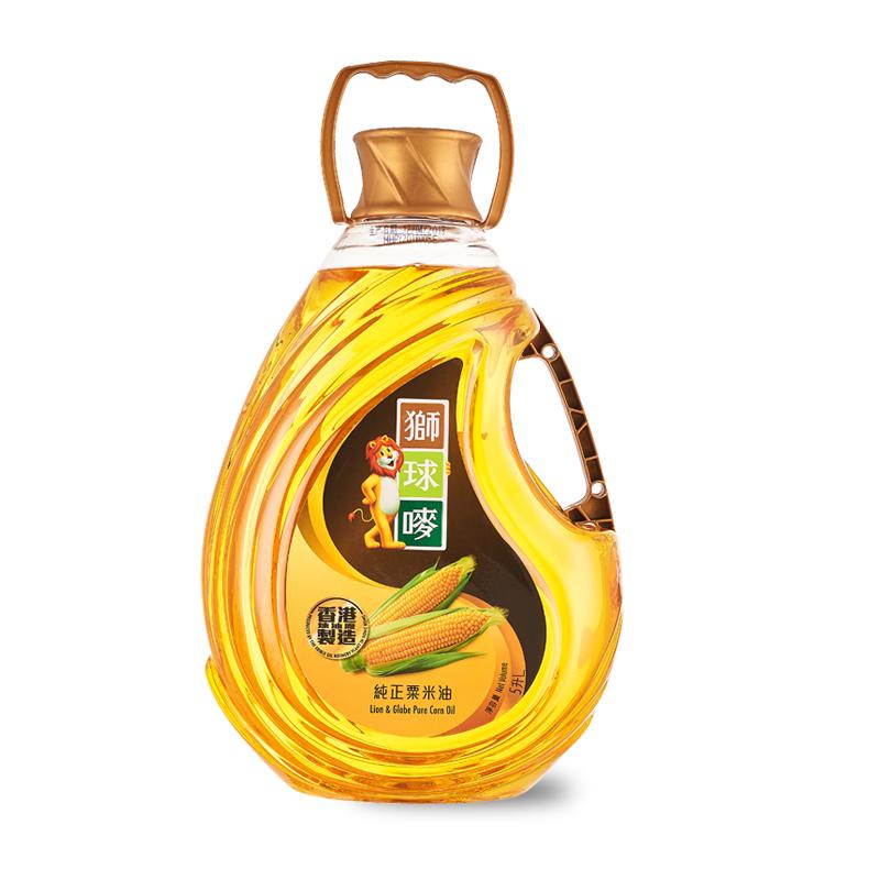 原装进口 狮球唛一级玉米油5L清香植物油香港制造 非转基因