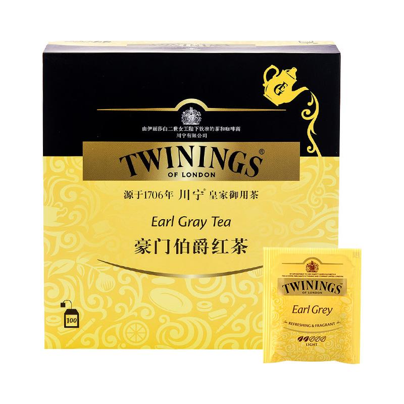 大份独立茶包袋泡茶 200g 川宁英国进口茶叶豪门伯爵红茶包 Twinings