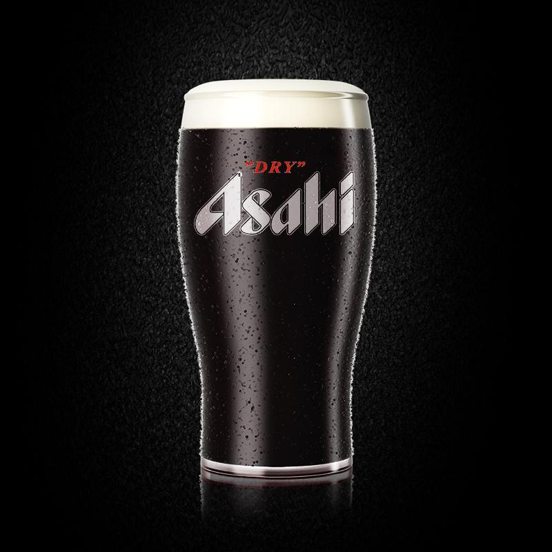 4 罐日本原装进口 ASAHI 500ml 朝日啤酒超爽黑啤
