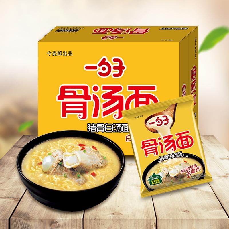 天猫超市 今麦郎 一勺子系列 猪骨白汤方便面 100gx24袋