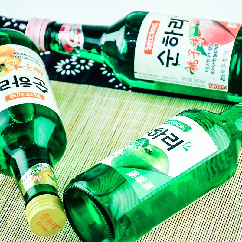 高颜值低度清酒 6 360ml 初饮初乐果味烧酒组合装 韩国进口乐天