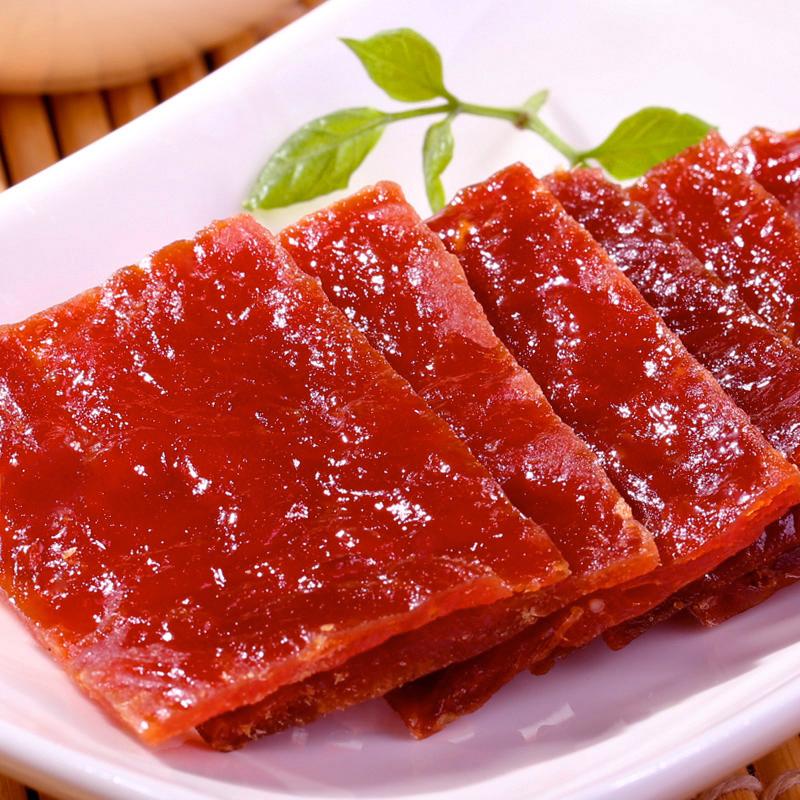 百草味精制猪肉脯100g 网红零食小吃靖江肉干肉铺熟食