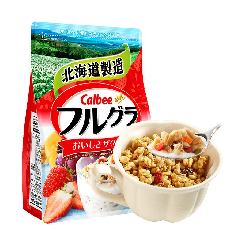进口早餐即食燕麦片 卡乐比水果麦片  Calbee 700g