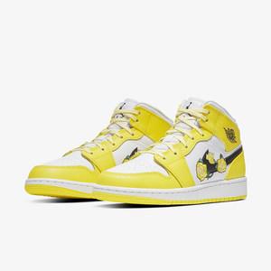 NIKE AIR JORDAN 1 黄玫瑰女子AJ1花卉刺绣篮球鞋 AV5174-700