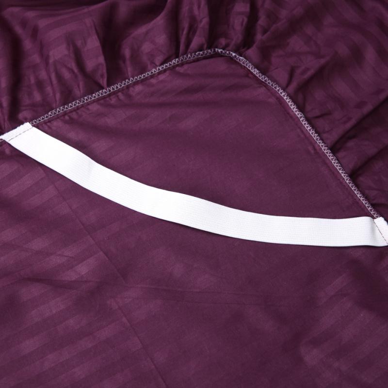 纯棉纯色全棉缎条床裙床罩式床单床笠床套单件1.5米1.8m床上用品
