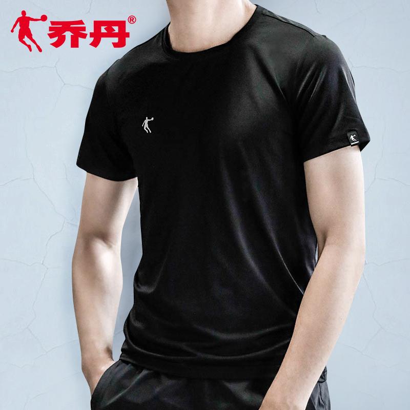 乔丹短袖t恤男装2020夏季新款正品圆领半袖上衣透气跑步运动服男
