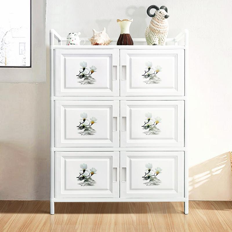 碗柜家用廚房置物柜收納柜子儲物柜簡易組裝廚柜鋁合金經濟型櫥柜