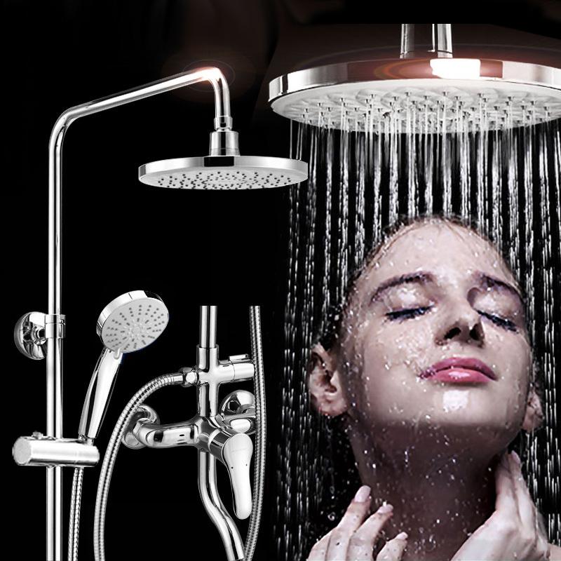 九牧卫浴全铜淋浴器花洒套装增压浴室冷热沐浴器喷头可升降 JOMOO