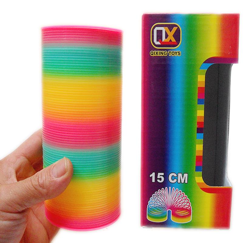 80后怀旧大号彩虹圈玩具 塑料弹簧圈 儿童游戏表演魔力叠叠圈夜光