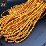 Old honey 216 beads beads bracelet 4-5MM Polish pure natural beeswax necklace amber batch female models Linteng gem plus