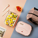 Office worker glass lunch box separated lunch box microwave heating special bowl student freshness box lunch box with lid
