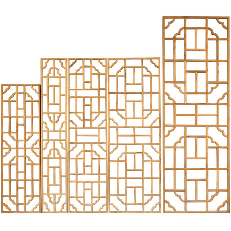 中式实木镂空花格隔断东阳木雕仿古门窗花窗玄关电视背景墙屏风