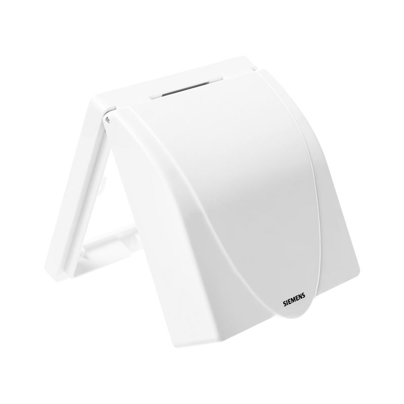 西门子开关插座防水盒 远景雅白86型浴室卫生间防溅盒罩保护盖