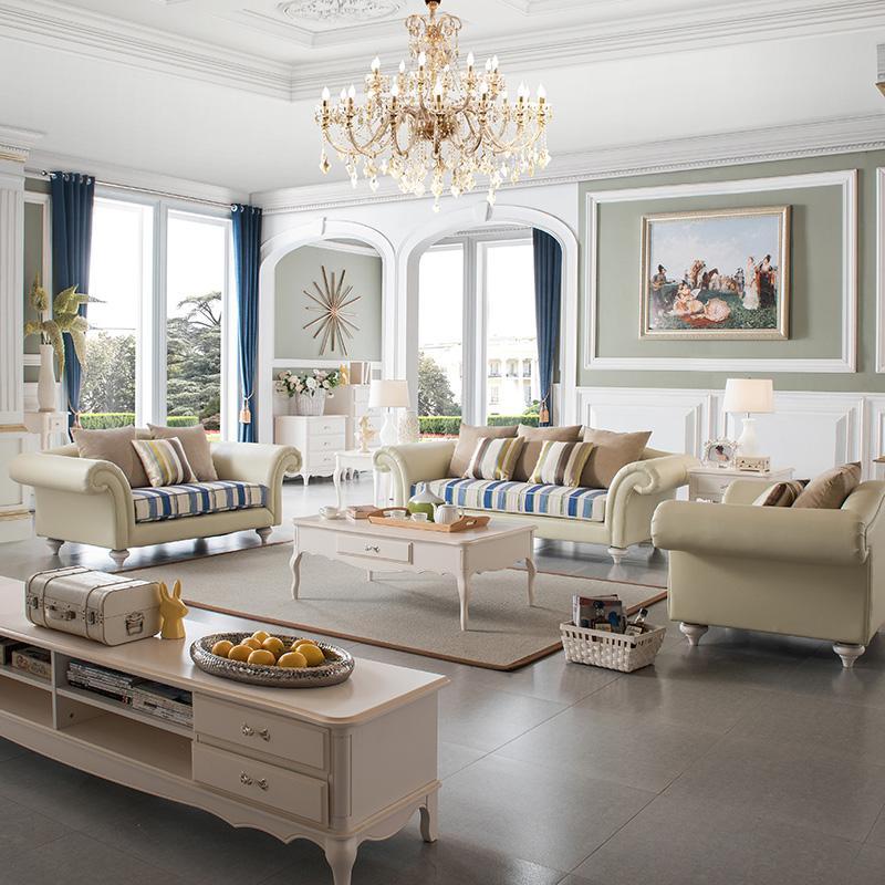 法丽莎家具法式北欧皮布沙发组合可拆洗欧式小户型客厅布艺沙发B3