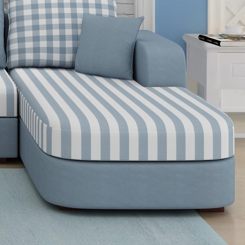 聚法丽莎家具布艺沙发组合田园地中海美式客厅沙发小户型布沙发B7