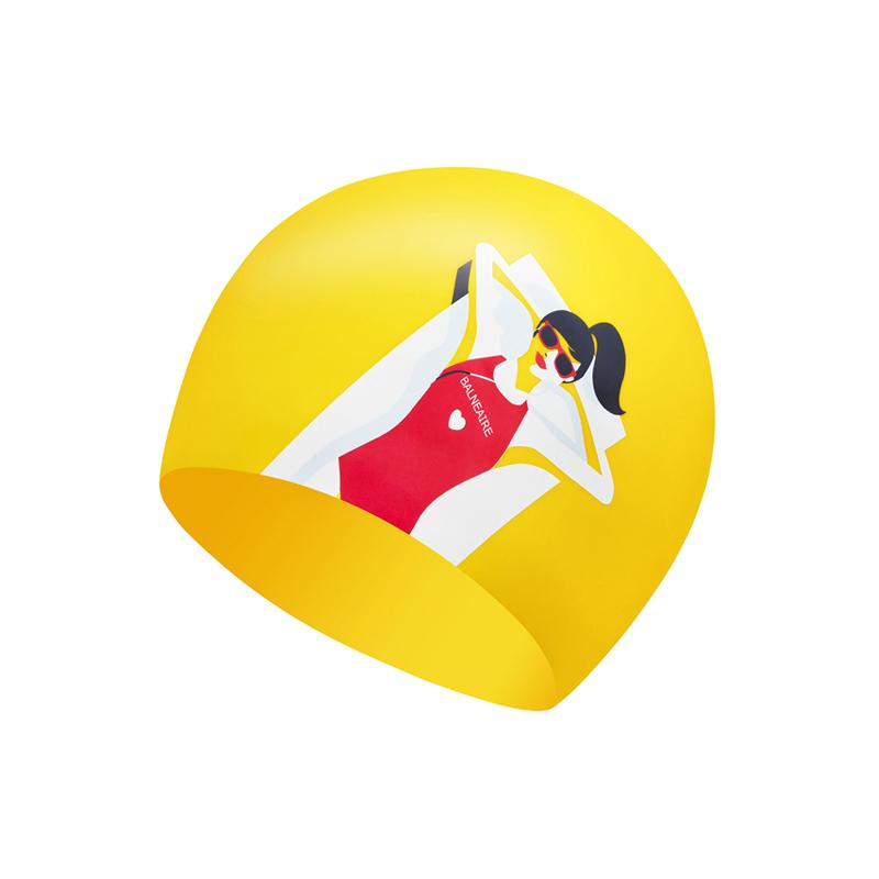 范德安泳帽女 防水防氯护耳大号硅胶泳帽ins时尚不勒头长发游泳帽