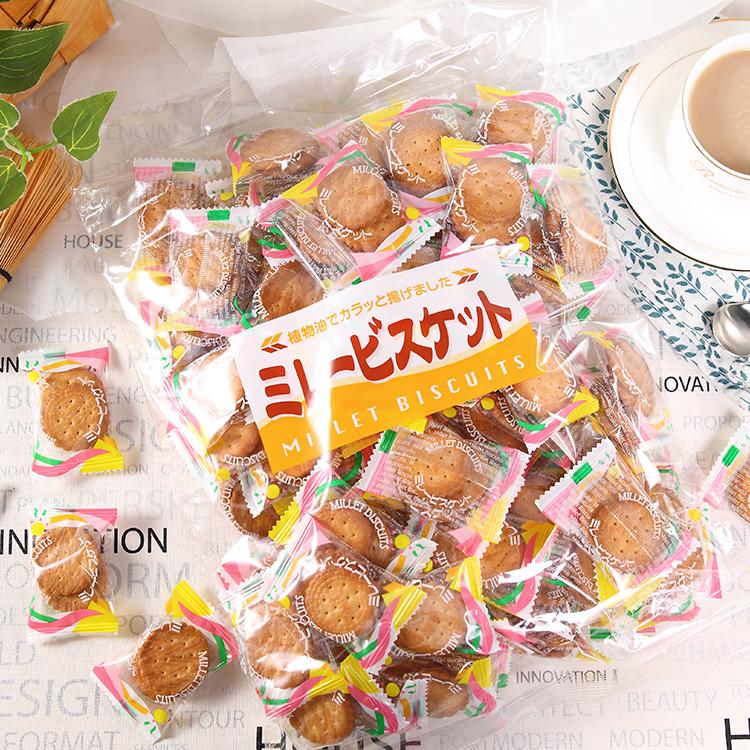 雪花酥原料 1201 500g 町田零食日本进口饼干名古屋平野南乳小圆饼