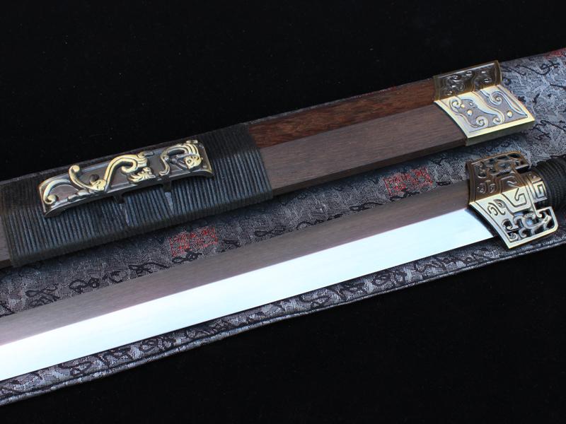 古剑轩-四面加强精制汉剑 龙泉剑 龙泉长手工宝剑  未开刃