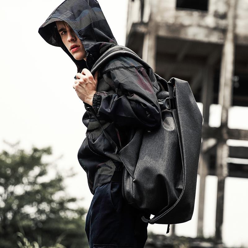 双肩包男士背包旅游大容量电脑包休闲潮牌书包学生时尚潮流旅行包