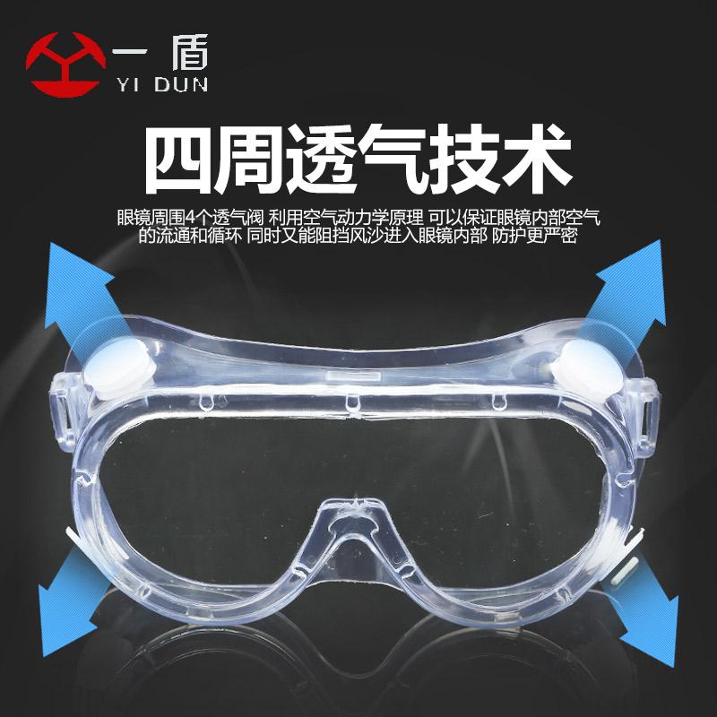 护目镜劳保防飞溅防风沙骑行工作防尘打磨防灰尘防护眼镜风镜男女