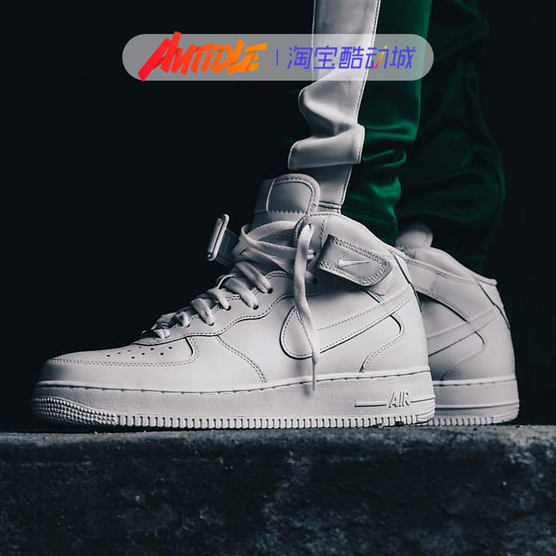 耐克Nike Air Force 1 AF1纯白空军一号男女休闲鞋板鞋315122-111 - 图1