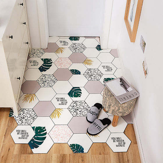 Washable And Cut Floor Mat For Door Access PVC Carpet For Household Kitchen Bedroom Non Slip Porch Mat