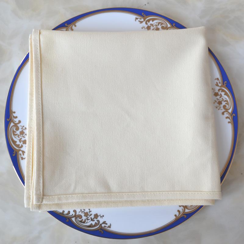 纯色全棉口布酒店西餐厅纯棉餐巾布折花口布擦杯布不易掉毛清洁布