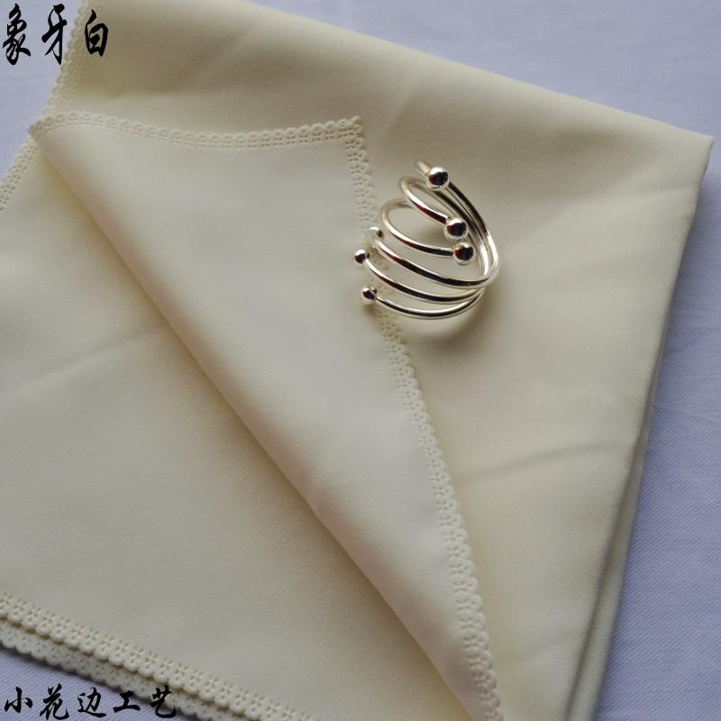 酒店餐厅折花口布 中西餐巾席巾擦嘴布 纯色提花多色