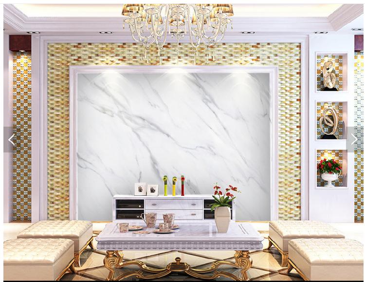 现代简约壁纸电视背景墙3d简欧式仿大理石纹理定制壁画新品墙布