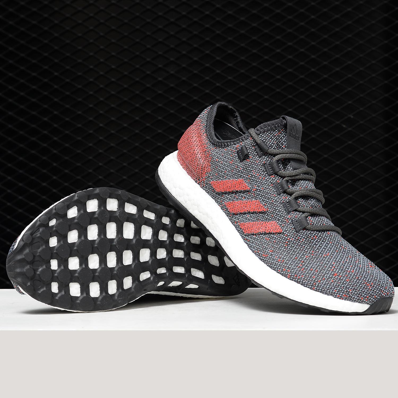 Adidas/阿迪达斯正品2019新款 BOOST 男子休闲缓震跑步鞋B37783【图3】